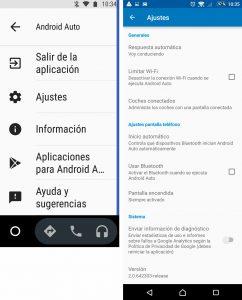 Ajustes de Android Auto