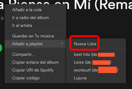 Spotify Premium Gratis. Guardar playlist