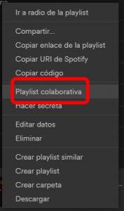 Spotify premium gratis. Lista colaborativa