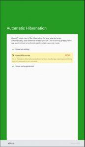 Hibernación automática en Greenify