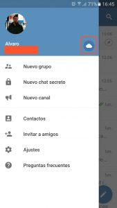 Chatea contigo mismo en Telegram