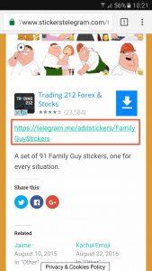 Cómo añadir sticker en Telegram (2/3)