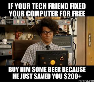 Invita a tu amigo el informático. por Tecnología Mundana