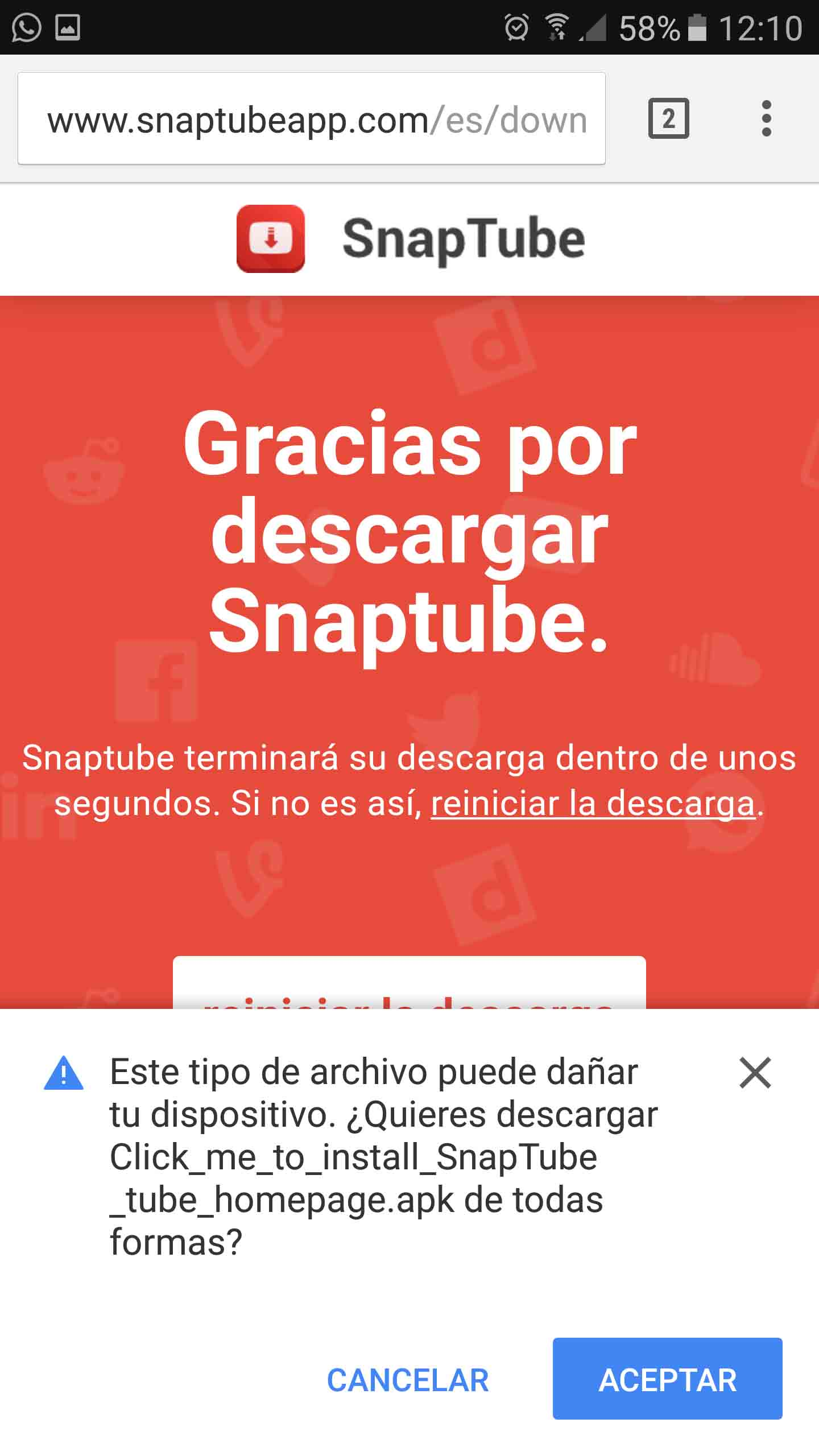 App para descargar vídeos de Youtube